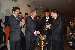 Gaurang Jalan with Egyptian Ambassador to India, Dr. Md. Higazy and actor Irrfan Khan.