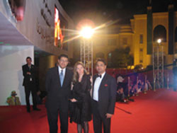 Gaurang Jalan with Mr & Mrs Sami Salem,Dy Ambassador of Egypt to India at the CIFF red carpet